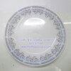 จานกลมตื้น 8 นิ้ว เนื้อมุก ลายซิลเวอร์สตาร์ Code : 025-ST550