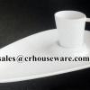 CHABA COFFEE CUP & TRAY ชุดอาหารว่างชบา หนาพิเศษ 017-CT2016