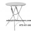 โต๊ะพับกลม สแตนเลส (ลายปั้มกราฟฟิก) 075-ST-101