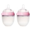 Comotomo Baby Bottle, 2 Pack, Pink 5 oz (150 ml) ชมพู แพคคู่ ขนาด 5 ออนซ์