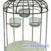 ขาตั้งจานและถ้วยเทียนรุ่นกรงนกเล็ก รวมจาน 1 ใบ และถ้วยแก้ว 3 ใบ Food display ( birdcage ) with 1 plate and 3 cups *small* code : 005-FFCD026S