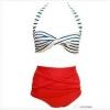 ชุดว่ายน้ำ ไซส์ xl ทูพีช เสื้อลายทาง รอบอก 34-38 เอว 28-32 สะโพก 34-38 นิ้ว ค่ะ