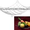 ตะกร้าใส่ผลไม้ ถาดโค้งแบบมีห่วงมุมสแตนเลส Tray with curved corners. 075-ST-926