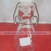 ROUND BOTTLE ขวดแก้วทรงกลม เนื้อใส ฝาคลิปล็อค ขนาดเล็ก JJG-01505