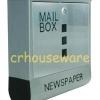 ตู้รับจดหมายแสตนเลส+หนังสือพิมพ์ Stainless Post Mail Box, กล่องจดหมาย, กล่องไปรษณีย์ ,ตู้ไปรษณีย์