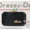 กระเป๋าออกงานพร้อ TE059 : กระเป๋าออกงานพร้อมส่ง สีดำ กระเป๋าคลัชตกแต่งกริตเตอร์สวยหรูมากค่ะ ราคาถูกกว่าห้าง ถือออกงาน หรือ สะพายออกงาน น่ารักที่สุด