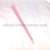 ตะเกียบพลาสติก ABS สีชมพู Pink ABS plastic chopsticks. 006-PE-01-P