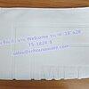 """ผ้าเช็ดเท้าลายWelcome สีขาว (หนา 8 ปอนด์) ขนาด 18""""x 28"""" Bath mat white color 8 lbs size 18'' * 28'' Code :TS-1828-8"""