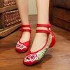 รองเท้าคัชชูผ้าสไตล์จีน