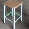 เก้าอี้ขาสูงเหล็กหน้าไม้ 1 ชั้น 075-MC001