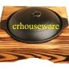ชามซุปพร้อมฝาปิด 006-TW-HP-3 หม้อซุปมีฝา , หม้อซุปพร้อมไม้รอง Soup bowls with cover. 006-TW-HP-3