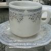 ถ้วยกาแฟพร้อมจานรอง เนื้อมุก ลาย Silver Star design รหัสสินค้า025-LDST60