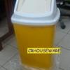 ถังขยะสีเหลือง 50 ลิตรฝาแกว่ง 001-KS648-Y ถังขยะ 50 ลิตร