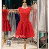 รหัส ชุดราตรีสั้น : BB118 ชุดแซก ชุดราตรี สีแดง แขนกุด เรียบหรูเหมาะใส่ออกงานกลางคืน งานคอกเทล ชุดไปงานแต่งงาน