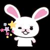กระต่ายสีขาวโมฟี่ (เคลื่อนไหวได้)