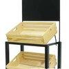 ชั้นโชว์ตั้งโต๊ะรวมลังไม้ 2 ใบ ป้ายมีลวดลาย Set the table 2 wood crates display shelf with label Code : 005-HK-DST060-2
