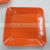 จานสี่เหลี่ยม 8 นิ้ว สีส้ม 017-P666-8