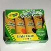 Crayola Washable Finger Paint 4oz: Bright Color สีระบายด้วยนิ้วสำหรับเด็ก ล้างออกได้ มี 4 สี (ม่วง เขียว ส้ม ฟ้า)