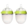 Comotomo Baby Bottle, 2 Pack, Green 5 oz (150 ml) เขียว แพคคู่ ขนาด 5 ออนซ์