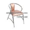 เก้าอี้หมิงแฟนซีเบาะฟองน้ำขาสแตนเลส 075-ST-209