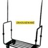 Stainless Luggage Trolley 4 Wheels รถเข็นกระเป๋า 002-UC-063,Xe đẩy hành lý,ឥវ៉ាន់ Trolley,行李車,Luggage Trolley