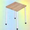 เก้าอี้แฟนซี เหลี่ยม หน้าไม้ยางพารา 015-FC-008