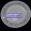 จานตื้นเนื้อมุกขนาด 8 นิ้ว ลายลานนา 025-LDLN550