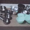 ถ้วยตวงแป้งอะลูมิเนียม Measuring spoon aluminium. 016-MP-SLA