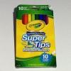 Crayola Washable Supertips Markers สีเมจิก10 สี หัวแบบพิเศษเส้นบางและหนาในแท่งเดียว