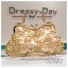 กระเป๋าออกงาน TE022: กระเป๋าออกงานพร้อมส่ง สีทอง แบบมีหูหิ้ว สวยหรูกับดีเทลเลื่อม ราคาถูกกว่าห้าง ถือออกงาน หรือ สะพายออกงาน สวย หรู ดูดีมากค่ะ เริ่ดคร๊า