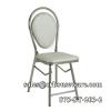 เก้าอี้พนักพิงเบาะฟองน้ำขาสแตนเลส 075-ST-203/2