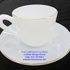 ถ้วยกาแฟพร้อมจานรองเนื้อมุก ลาย Pearl Design Dinner รหัสสินค้า 025-LD-P60