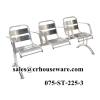 เก้าอี้นั่งคอยคิว 3 ที่นั่งมีที่เท้าแขนสแตนเลส 075-ST-225/3