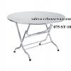 โต๊ะพับกลม หน้าเรียบสแตนเลส 075-ST-103