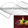 ตะกร้าใส่ผลไม้ ทรงระนาดสแตนเลส Basket put fruit stainless steel xylophone shapes. 075-ST-908