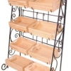ขาตั้งวางสินค้าพร้อมลังไม้ 8 ใบ มีล้อ 8 wood crates display shelf with wheels Code : 005-HK-DST085-8N