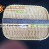 ถาดเหลี่ยม 10 นิ้ว ลายไม้สาน รหัส : NK13713-10 Melamine tray square shape weave design 10 inches Code : NK13713-10