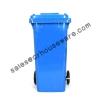 ถังขยะสีน้ำเงิน 001-M 120A-B (ถังขยะ 120 ลิตรมีล้อสีน้ำเงิน) Garbage pail wheel 120 Liter Blue. 001-M 120A-B