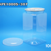 กระป๋อง CAN PET ฝาดึง เปิดง่าย ขนาด 1000ml ทรงสี่เหลี่ยม 008-GKPE1000S-307