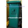 ถังขยะสีเขียวแบบใช้เท้าเหยียบ ถังขยะมีล้อ (นำเข้า) ใหญ่ 120 ลิตร 001-HK-07321A-G Pedal bins with wheels (Big) (import) 001-HK-07321A-G