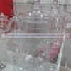 JAR WITH COVER โหลแก้ว แฮนด์เมด พร้อมฝาแก้ว เนื้อใส ความสูง 27 ซม. JJG-103