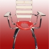เก้าอี้นั่งถ่าย มีพนักพิงและมีที่เท้าแขน สำหรับครอบชักโครกได้ (เฉพาะบางรุ่น) Code : 100-VIP-100
