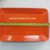 จานแปลเหลี่ยม 8.5*13 นิ้ว สีส้ม 017-P686-13