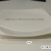 """จานแบ่งอาหารทรงสี่เหลี่ยม ไม่มีขอบ 6.5"""" 017-SB-P990-6.5"""