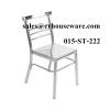เก้าอี้สแตนเลสมีพนักพิง เก้าอี้ออโตมาน 015-ST-222