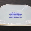 จานสี่เหลี่ยมเนื้อมุก ขนาด 9 นิ้ว -ลาย Pearl Design Dinner รหัสสินค้า 025-LD-P460