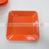 จานสี่เหลี่ยม 6.5 นิ้ว สีส้ม 017-P666-6.5