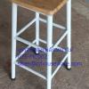 เก้าอี้ขาสูงเหล็กหน้าไม้ 2 ชั้น 075-MC002