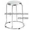 เก้าอี้กลมสแตนเลส ฐานกลม - ที่นั่งใหญ่ 075-ST-005