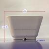 """ถ้วยน้ำจิ้มทรงสี่เหลี่ยมจัตุรัสทำโลโก้ 3 """" 017-B999-3L"""